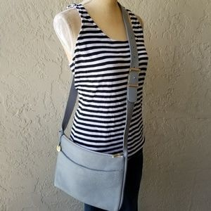 Skagen Anesa Crossbody Bag in Cowhide Grey Leather